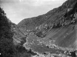 View of Bear River Canyon, Utah, looking east toward Cache Valley, about 1905