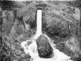 Spillway of East Side Canal, Bear River Canyon, Utah, about 1905