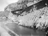 East Side Irrigation Canal in Bear River Canyon, Utah, about 1905