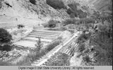 Logan Canyon, Utah. Construction of Third Dam