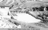 Logan Canyon, Utah, Third Dam during reconstruction, 1924