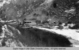 Logan Canyon, Utah, Third Dam during reconstruction, 1923-24