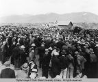 Celebration at beginning of construction of Hyrum Dam, Hyrum, Utah, 1934