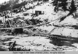Dam construction at Alexander, Idaho, Winter 1922-23