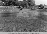 Blacksmith Fork River flood damage, June 1971
