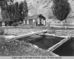 Utah Power and Light cottages at power station, north side about 1/4 mile up Logan Canyon, 1920s