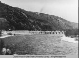 Wheelon Dam in Bear River Canyon, Utah, 1905