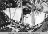 Construction of Cutler Dam in Bear River Canyon, 1923