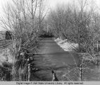 Typical section of Logan River prior to flood control project, 1972