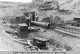 Construction of flood control dam across Five Mile Creek