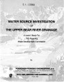 Water Source Investigation of the Upper Bear River Drainage: A Level I study for the Wyoming Water...
