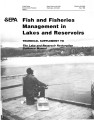 Fish and fisheries management in lakes and reservoirs: technical supplement to the lake and...
