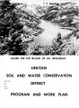 Water the life blood of all resources: Lincoln Soil and Water Conservation District : program and...