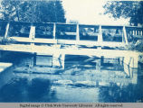 Wooden bridge and dam
