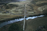 Aerial view of pipe