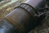 Large rusty pipe