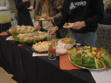 Refreshments served at the Bells: Connecting Animals, People and Land Exhibit Opening;