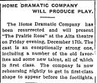 Home Dramatic Company Will...