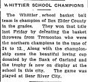 Whitter School Champions
