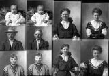 Miss May Gibson  (2 poses), George Hansen (2 poses), Lillie Hansen (2 poses), Miss Ella Hansen  (2...
