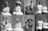 John Fosgreen and lady (2 poses), Mrs. Fred  Holland (girl - 3 poses), Mrs. Susan Reynolds;