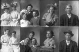 Henry Blackburn and sisters (2 poses), Martinus Christensen (2 poses), May Gibson and Ella Hansen...