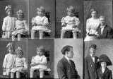 John Fosgreen and wife (2 poses), I. W. Packer (2 children - 2 poses), I. W. Packer (little boy -...