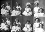 Olive Cown and sister (2 poses), William Gidney (3 children - 4 poses), Cora Wilson (baby - 2...
