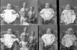 Mrs. Eunice Boothe (baby - 2 poses), William Korth (baby - 2 poses), D. L. Nelson (4 children - 2...