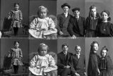 Eulilia Jensen and sister (2 poses), Martin and Wright Pett (2 poses), Orson Poulsen (baby - 2...
