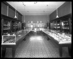 Interior of Peters Jewelry at 1200 South, Brigham City, Utah;