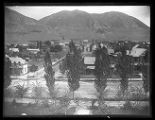 Brigham City, Utah, looking East from the courthouse tower;