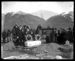 Graveside services at the Brigham City cemetery;