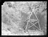 Aerial tramway pylons for Baker Mine, Baker Canyon;