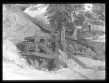Cable gear for aerial tramway at upper end of Baker silver mine, Baker Canyon;