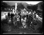 Funeral wreaths at the grave of Lorenzo Snow;