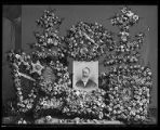 Floral arrangements for funeral of Box Elder Stake President Charles Kelly (1841-1905);