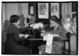 Women at work in unidentified office (1 of 2)