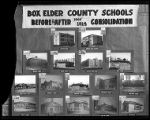 Composite photo display of Box Elder County school buildings;