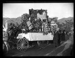 Wagon carrying floral displays at the burial of Lorenzo Snow;