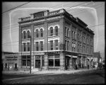 First National Bank in old BCM and B Building at Forest and Main Streets;