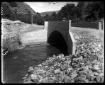 Concrete bridge over Box Elder Creek at the mouth of Box Elder Canyon, leading to Mantua (2 of 3);