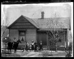 Copy of an original photo of the Joseph Hunsaker house;