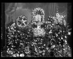 Floral display and portrait for the funeral of Mrs. M. N. Gilbert (2 of 2);