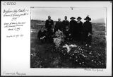 Grave of Mrs. M. Jamison with funeral flowers;