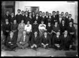 Group photo of young men and women, possibly high school students (1 of 2);
