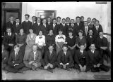 Group photo of young men and women, possibly high school students (2 of 2);