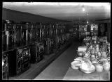 Interior photo of the kitchenwares department of Hansen Mercantile Co.;