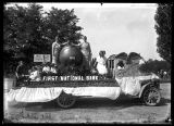 First National Bank parade float;