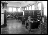 Interior of a library or office;